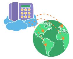 Cloud telephone exchange on VPS